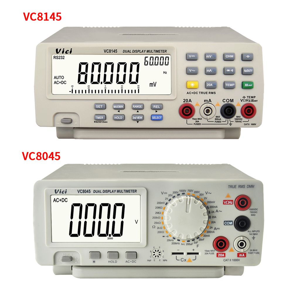 VC8145 VC8045 bancada Multímetro Digital Auto Faixa Multímetro 1000V 20A Multimetro Digitais Voltímetro Ohm DCV/ACV/ DCA/ACA