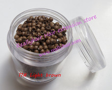 Hot sale 1000pcs bottle 2 9x1 6x2 0mm 11 Light Brown Nano Rings with Silicone for