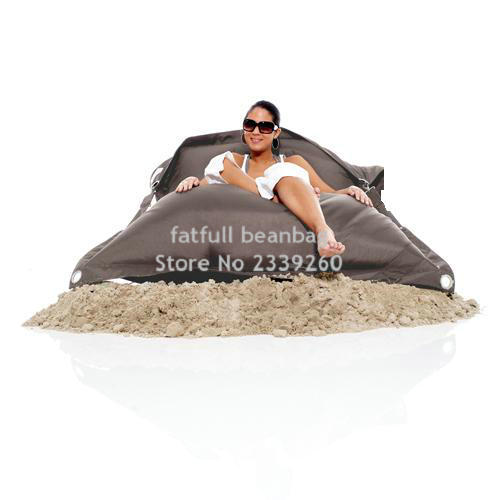 Cover Only No Filler Grey Color Outdoor Buggle Up Bean Bag Chair Sand External