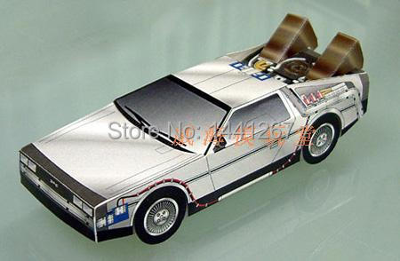 Movie Back To the Future Dr Barlett Car Paper Models Classic 3D Paper  Crafts Models Toys For Children