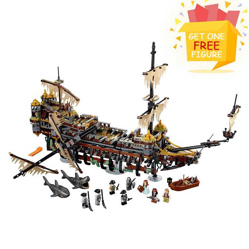 Bela Pogo Compatible Legoe Pirate Ship the Slient Mary Building Blocks Bricks Model toys for children 2324pcs+ 2018 New lepin 75821 pogo bela 10505 birds piggy cars escape models building blocks bricks compatible legoe toys