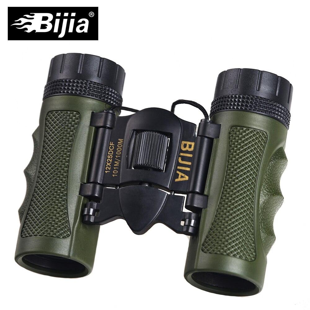 BIJIA 12x25 Mini Pliage Extérieur Télescope BAK4 FMC Porfessional Chasse Optique Jumelles