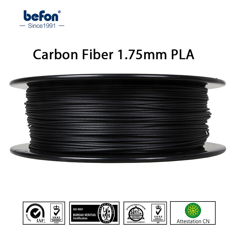 befon Carbon Fiber 3D Filament Strong PLA Printer Filament 1.75mm 3D Printing Material for MakerBot RepRap Ultimaker Printer 1KG anet a6 a8 reprap 3d printer full acrylic assembly diy 3d printer kit with auto sensor 1roll filament sd card filament holder