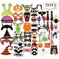 59 шт./компл. красочные забавные губы, усы креативные фотостудии реквизит свадебный Декор для Хэллоуина, вечеринки, дня рождения, Рождества