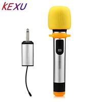 KEXU 1 Way multi channel Metal Handheld Transmitter Wireless Microphone Camera Microphone Party Karaoke Microphone