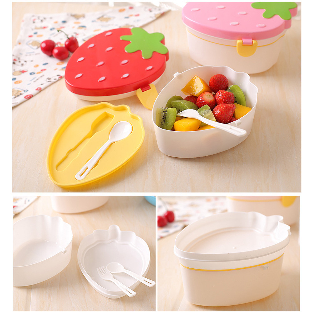 2 Layer Food Storage Boxes Compartments Pp Food Grade