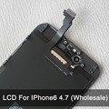 10 Шт./лот Для iPhone 6 ЖК-Дисплей С Сенсорным Экраном Digitizer Замена 4.7 дюймов Качество AAA Без Мертвых Пикселей Бесплатная Доставка черный