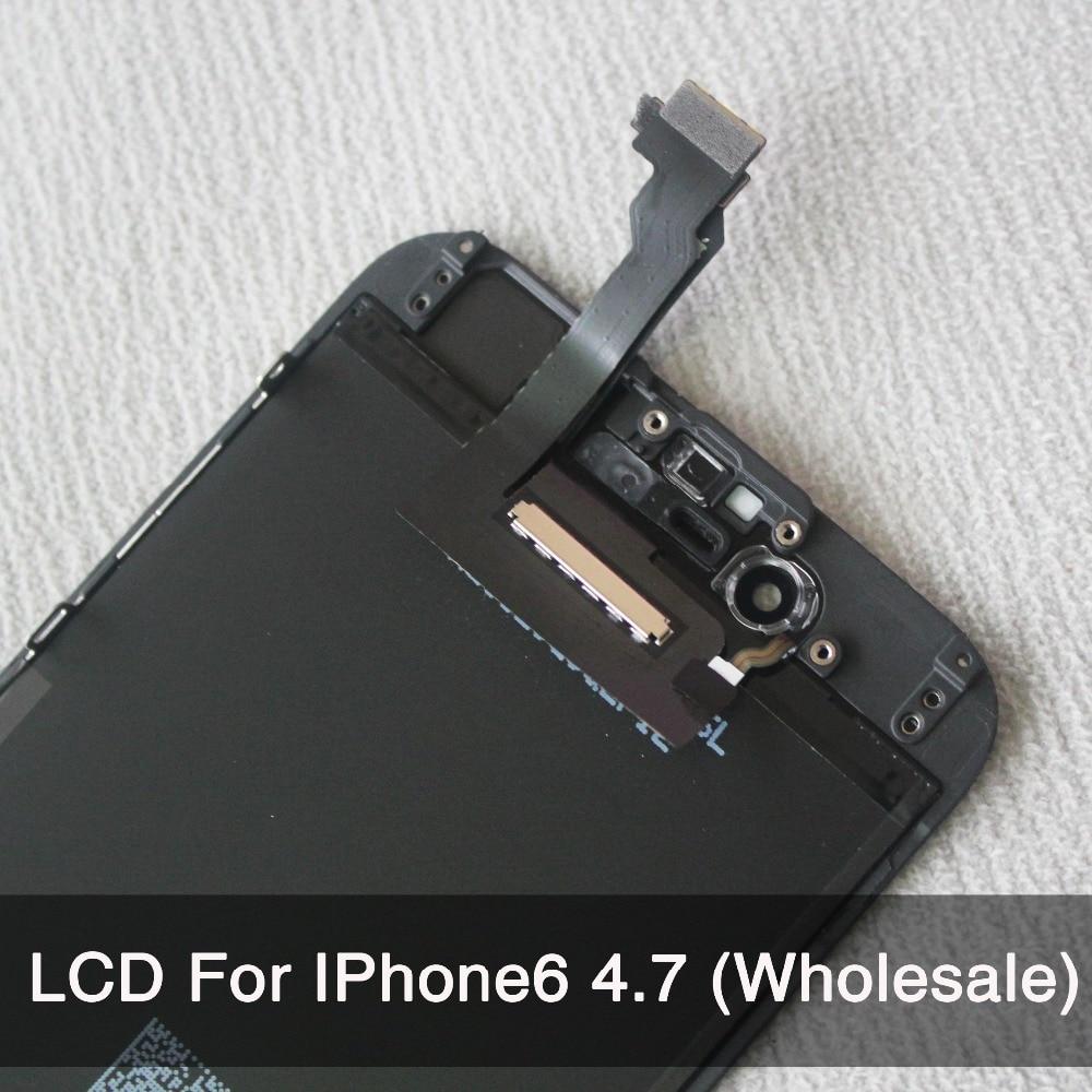 imágenes para 10 Unids/lote Para iPhone 6 LCD Pantalla Táctil de Reemplazo Digitalizador 4.7 pulgadas AAA Calidad No Dead Pixel Envío Libre negro