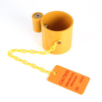 Cylinder Type Hanging Chain Trailer Lock Hitch Coupler Lock Shackle Padlocks With 2 Keys Automobile Truck Anti theft