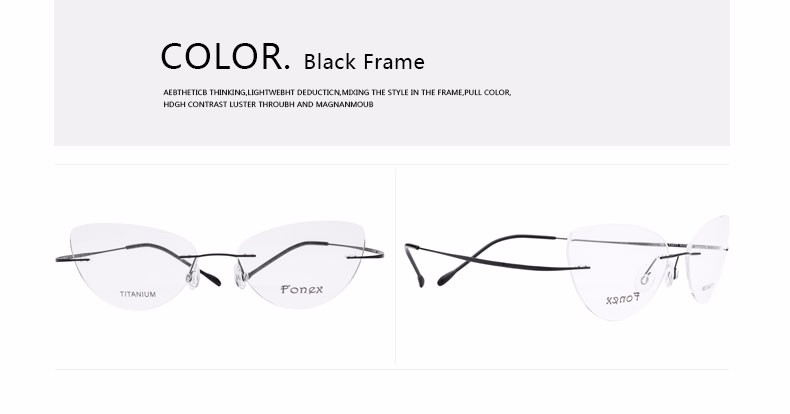 rimless women cat eye glasses silhouette fashion eyewear eyeglasses (12)
