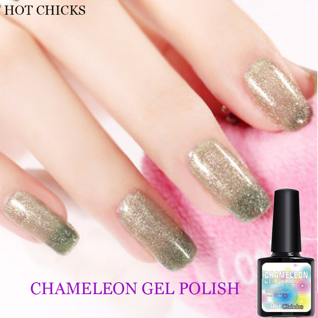 Hot S Uv Gel Type Nail Art Polish Color Changing Pigment