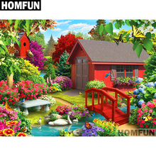 HOMFUN Full Square/Round Drill 5D DIY Diamond Painting Garden & house Embroidery Cross Stitch 5D Home Decor Gift A01687 homfun full square round drill 5d diy diamond painting garden