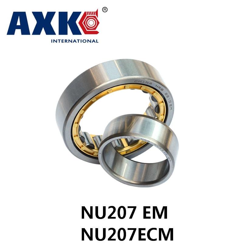 Axk Gcr15 Nu207 Em Or Nu207ecm (35x72x17mm)brass Cage Cylindrical Roller Bearings Abec-1 удлинитель zoom ecm 3