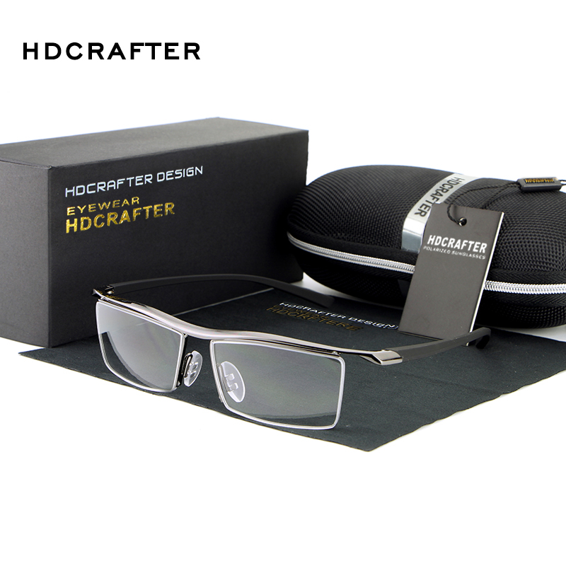 HDCRAFTER Marque Vente Chaude Unisexe Lunettes Tr90 titanium myopie lunettes cadre de lunettes antidérapante confortable
