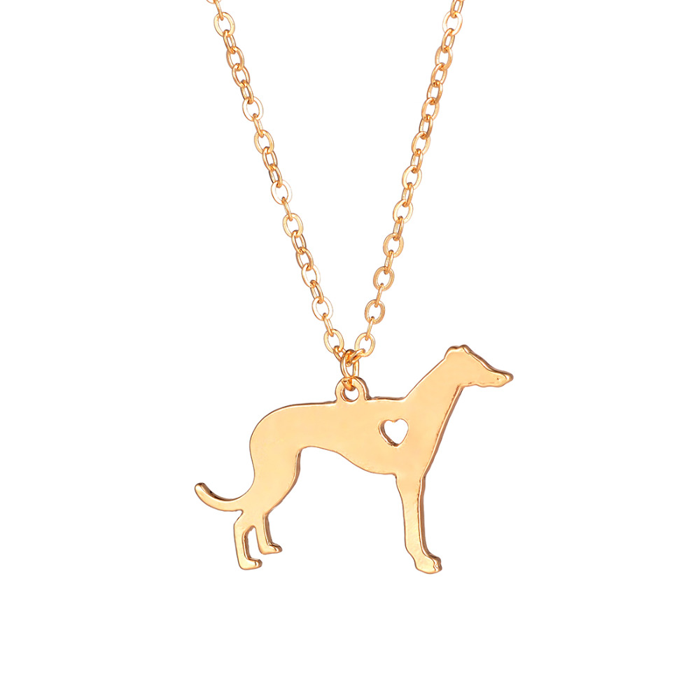 Statement Greyhound Necklace Choker Dog Pendant Jewelry Breed Personalized Pets Necklaces Breeder Dog Lovers For Women Collare