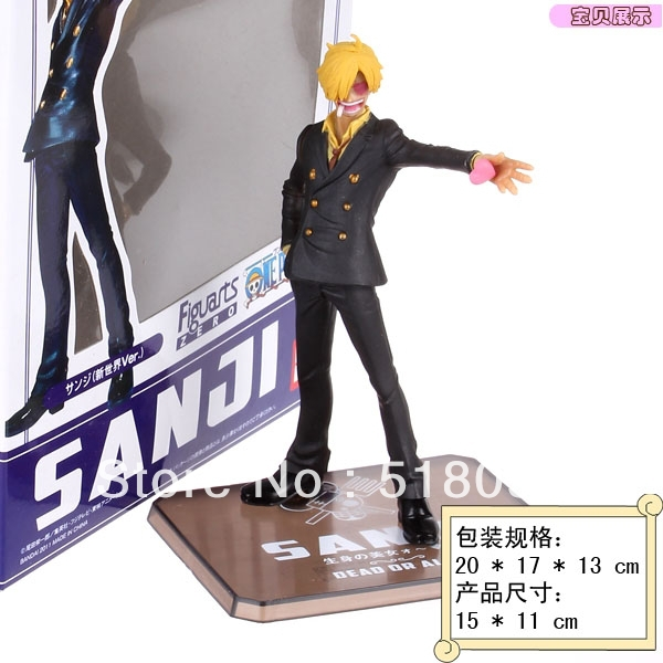 Free Shipping <font><b>New</b></font> <font><b>World</b></font> <font><b>the</b></font> <font><b>Sanji</b></font> <font><b>Japanese</b></font> <font><b>Anime</b></font> <font><b>Cartoon</b></font> Two Years Later One Piece Zero Action Figures PVC Doll Model Collection