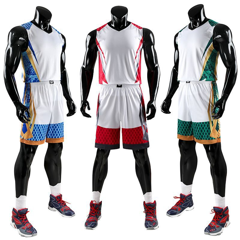 <font><b>Men's</b></font> Basketball Jerseys Set Quick Dry Breathable Sports Shirt & <font><b>Short</b></font> Pants Plus Size Gym Training Jerseys <font><b>Suits</b></font> Sportswear image