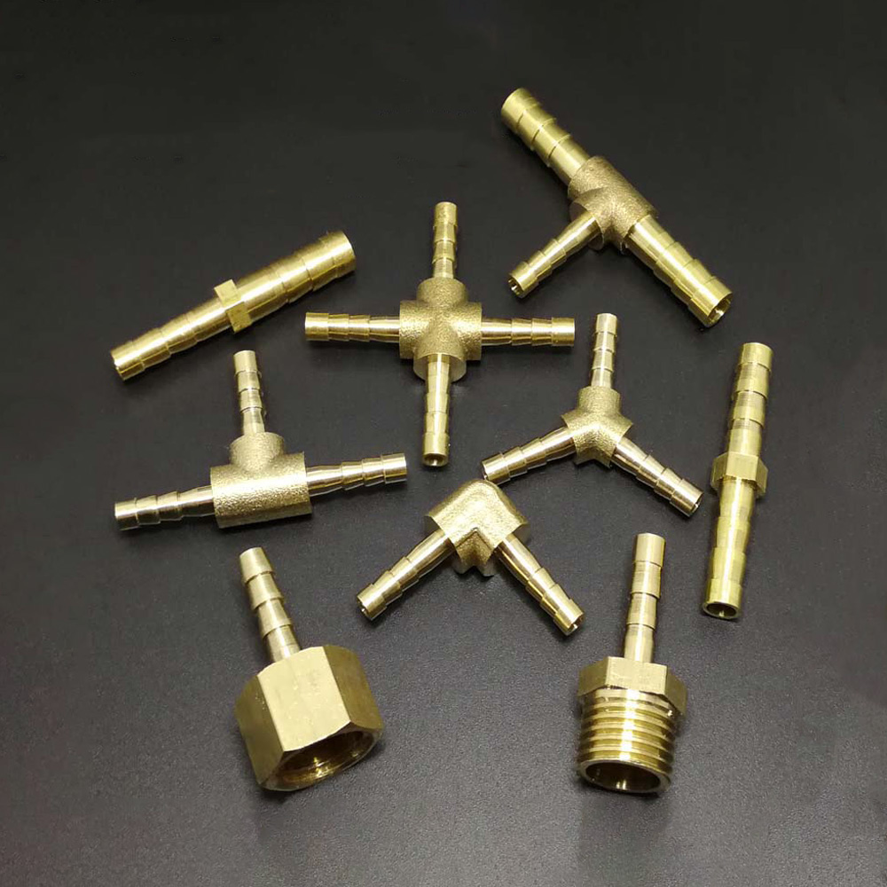 4mm 5mm Straight Y-Shaped Splitter Tee Elbow Coupling Brass Connector Water Gas Oil