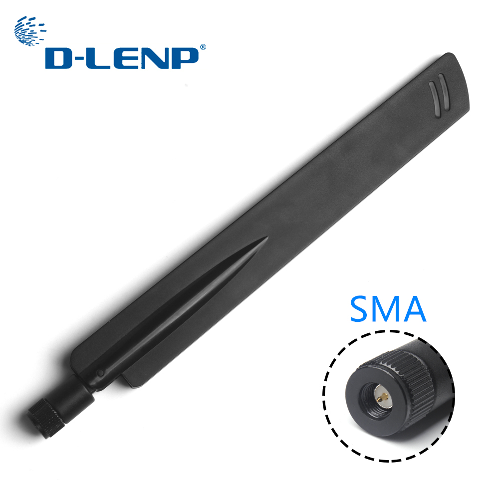 Dlenp 2.4Ghz Wireless WIFI Antenna SMA Aerial Booster 18 Dbi Universal Antennas Amplifier AP Bridge WLAN Router Connector