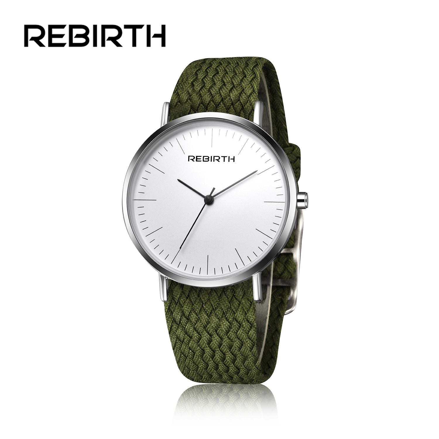 2018 New REBIRTH Watches Women Men Top Brand Luxury Unisex Nylon Strap Wristwatches Quartz Sports Watches Relogio Masculino
