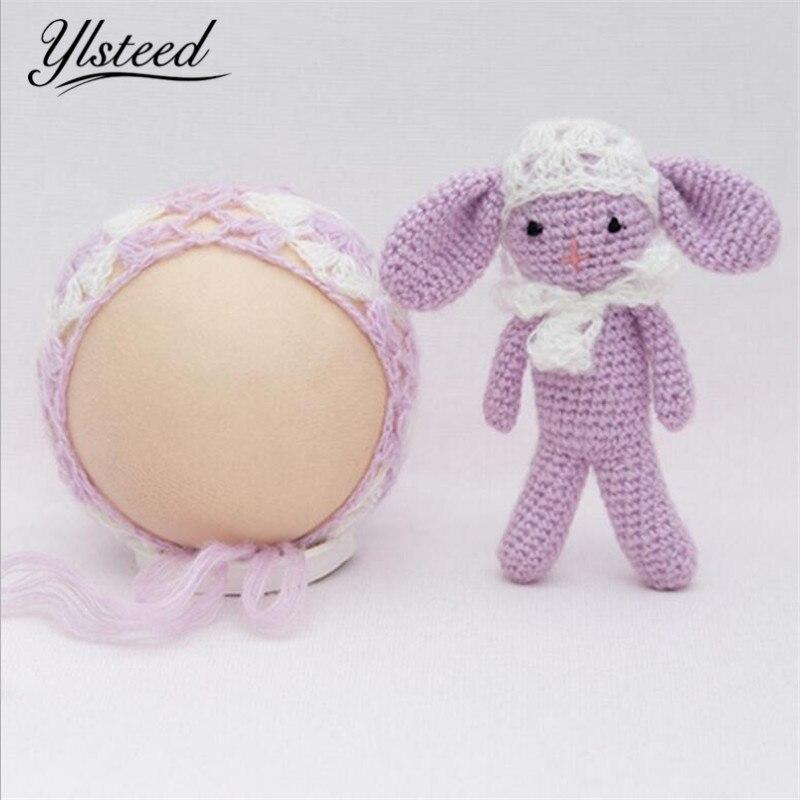 Крючком новорожденный Принцесса шляпа + кукла набор реквизит для фотосессии вязать милый ребенок Шапки маленьких Подставки для фотографий ...