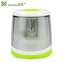 Фотография Electric Pencil Sharpener Creative Green And Blue Student Electronic Sharpeners One Hole Apply To Pencil Of 6-8mm 8025
