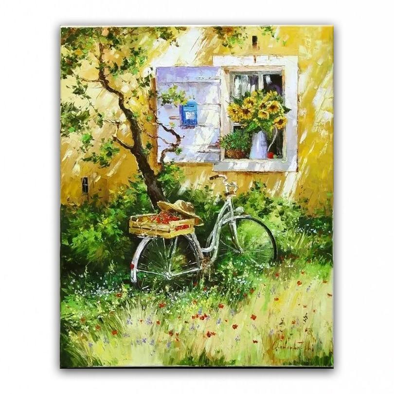 100% əllə boyanmış yağlı - Ev dekoru - Fotoqrafiya 1