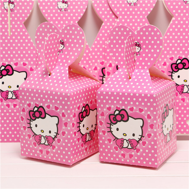 Set Of 8pcs Baby Shower Favors O Kitty Favor Box Candy Birthday Party Souvenir Boy