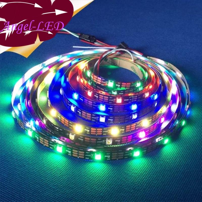 embutido individualmente endereçável 30 60leds m 5050 rgb sonho cor led tira luz