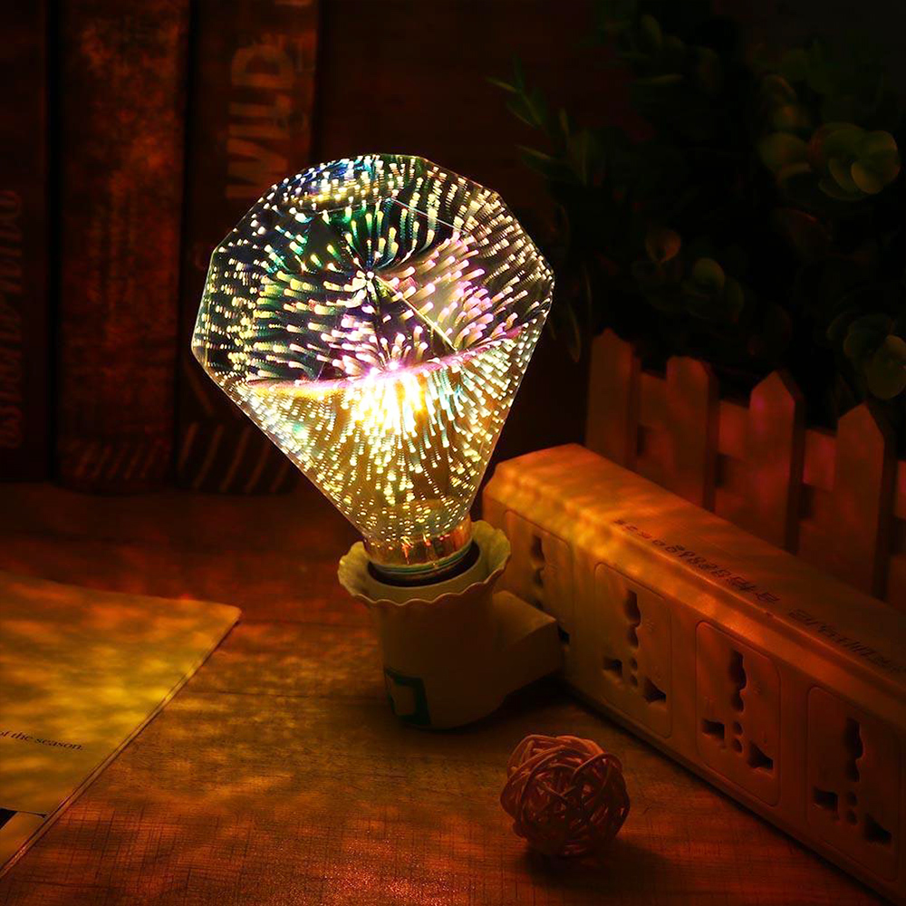 Фейерверк свет фейерверк лампа KTV домашний Декор 3D креативная Светодиодная лампа 3D фейерверк лампа ретро Сказочный свет