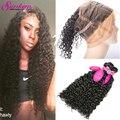 360 Lace Frontal Water Wave Brazilian Virgin Hair 2 Bundles With Closure 360 Brazilian Lace Frontal Water Wave Hair With Closure