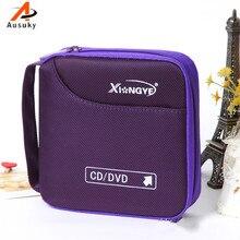 Ausuky различные цвета автомобиля портативный 32 диск емкость чехол для DVD для CD для автомобиля медиа хранения CD сумка-15