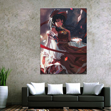 где купить Home Decor Canvas 1 Piece Cute Sexy Anime Toho Project Hakurei Reimu Posters and Prints Painting Home Decoration Wall Pictures дешево
