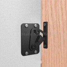 цена на 1PCS 2018 New Style Stainless Steel Sliding Barn Door Lock Black Wood Door Door Latch JF1612