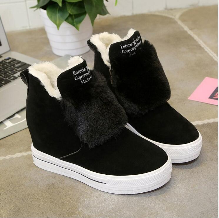 7ba2bffb4fd7 EFFGT 2017 new Style Woman Platform Ear women winter ankle Boots plush  Student Shoes Female Warm snow boots free shipping Y142-in Snow Boots from  Shoes on ...