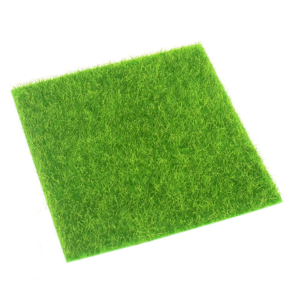 Watering Kits Grass Mat Artificial Lawns Carpets For Building Model Doll Houses Garden Miniatures Model Making Floor Decoration 50x50cm Discounts Sale