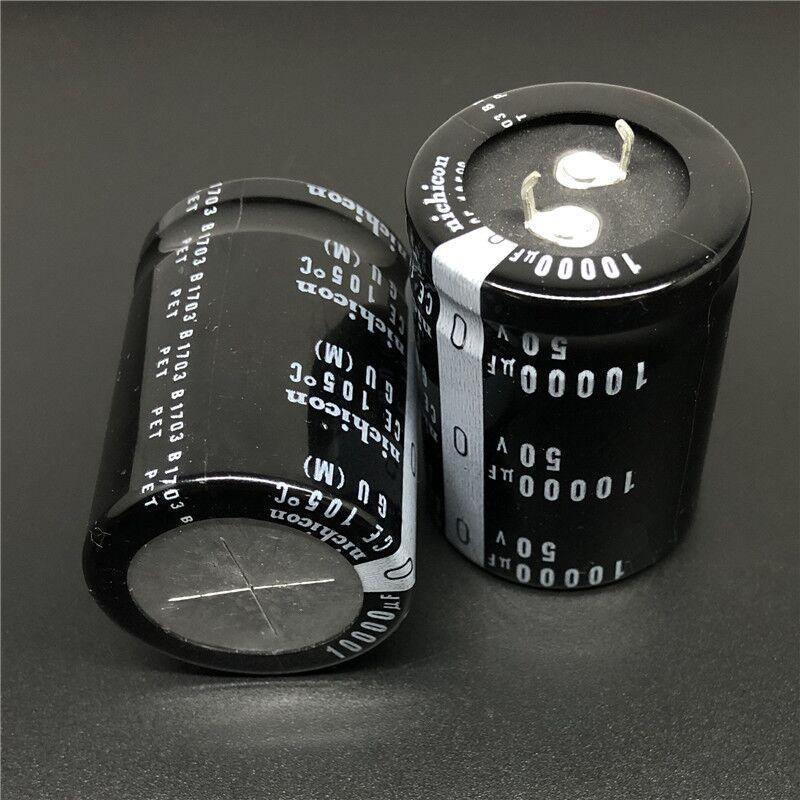 2PCS/10PCS 10000uf 50v Nichicon GU 30x40mm 50V10000uF Snap-in PSU Capacitor