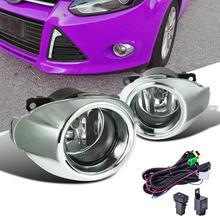 Для Ford Focus 2014-2012 Противотуманные фары дальнего света + хромированная решетка крышка + проводка