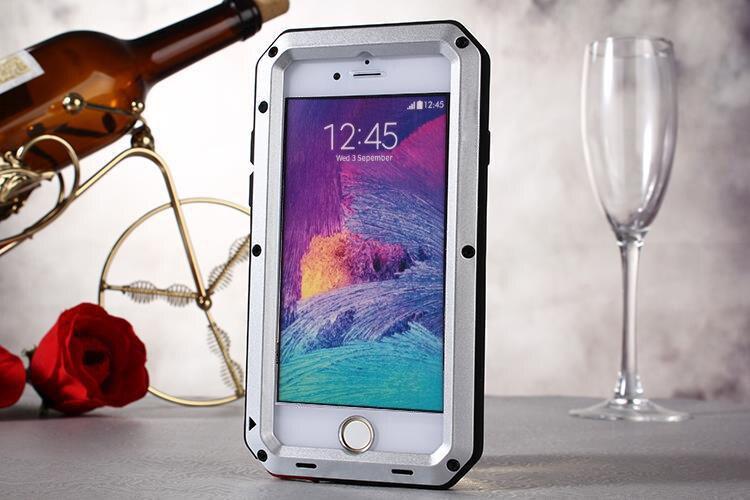 286166ebd Mejor regalo impermeable a prueba de choques suciedad de metal aleación  para iPhone6 más metal cubierta protectora del teléfono con el vidrio del  gorila