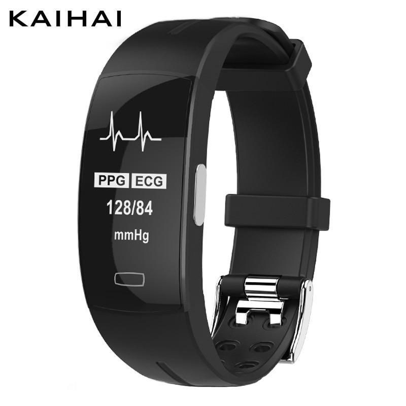 KAIHAI H66 blood pressure wrist band heart rate monitor PPG ECG smart  bracelet Activit fitness tracker electronics wristband