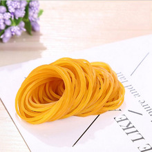 100pcs/Package High Quality Transparent Yellow Rubber Band Cowhide Rubber Band Office Supplies Stationery Rack Band