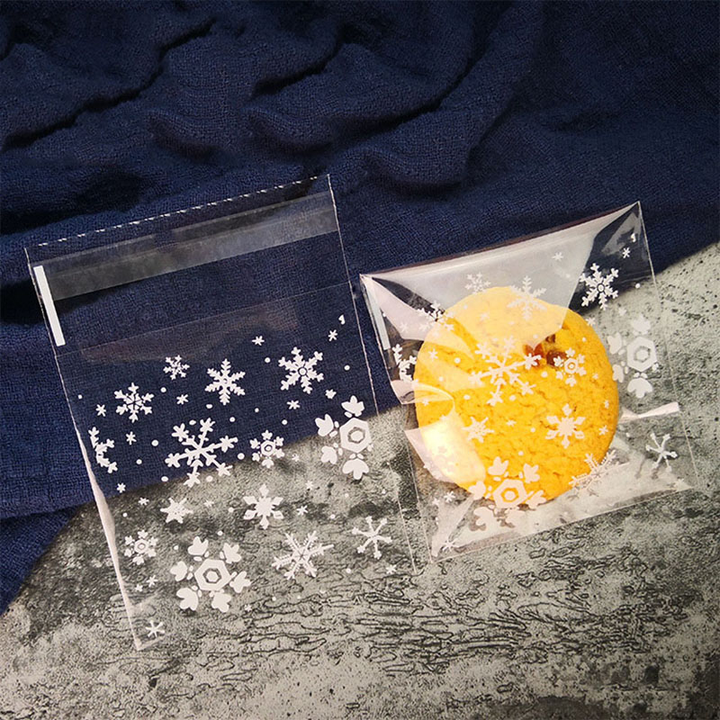 50/100pcs 7*7cm Transparent Cellophane Gift Bag Candy Cookie Packaging DIY Self-adhesive Plastic Bags Wedding Birthday Party