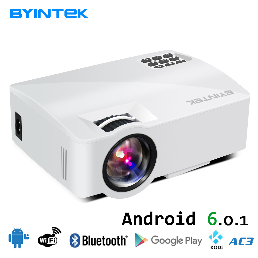 BYINTEK CIELO L5 Mini LED Portatile Video Proiettore Proiettore Beamer per Home Theater Supporto Full HD 1080 P (opzionale Android 6.0)