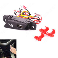 Car Stying LED Trunk Switch Assembly Luggage Refit Button Left Hand Drive With USB Connector For