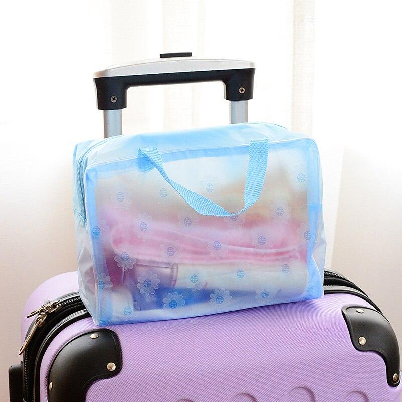 Storage-Boxes Travel-Bags Toilet Transparent Shower Man Waterproof 20--9--16cm Bath-Wash-Bag