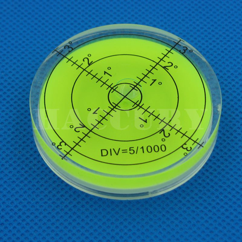 HACCURY 60 * 12mm Circular Bubble Level Spirit Level Round Bubble - Měřicí přístroje - Fotografie 3