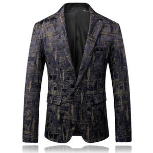 XMY3DWX Men's Printing Blazer Male Casual Suit Jacket Coats
