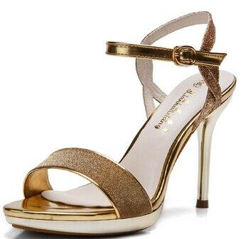 New 2017 summer fashion women sandals leather shoes Elegant woman shoes comfortable ladies party women's pumps high heel
