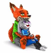 Balody diamentowe klocki śliczne Judy królik Nick Fox Model plastikowe zabawki do budowania Stitch aukcja figurki Brinquedos dla dzieci prezenty
