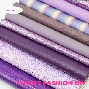 Image 2 - 12pcs High ใหม่สไตล์ผสมสีม่วงสีผสม PU หนังชุด/สังเคราะห์หนังชุด/หนังเทียม